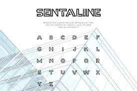 Initial Monogram Fonts Sentaline Logo And Monogram Font Fonts Creative Market