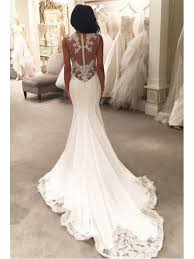 wedding dresses for abroad back mermaid wedding dress with lace applique