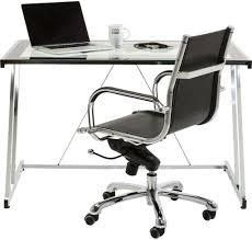 Schreibtisch M El 24 Kare Design Schreibtisch Mundi Glas Verchromtes Stahl 120x70 Cm