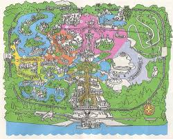Disney World Map Magic Kingdom by A Map Of The World U2014 Sean Adams