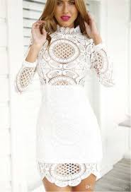 white lace dress high quality casual dresses women lace dress white