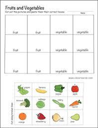 preschool worksheets on fruits and vegetables