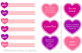 craftaholics anonymous printable valentines day lunch box notes