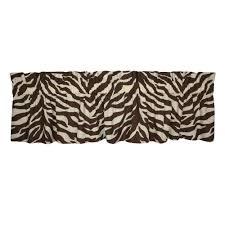 brown zebra print valance 07152200032km kimlor mills inc