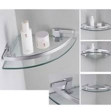 Glass Bathroom Corner Shelves Glass Bath Shelves Ebay