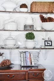 open shelves in the breakfast room