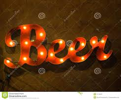 light up beer signs light up beer sign says time to drink stock image image of