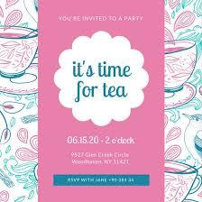 tea party invitation printable tea party baby shower invitation