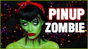 vintage pinup zombie halloween makeup ashtoberfest day 6 31