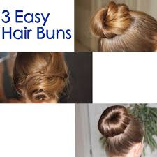 hair buns 3 easy hair buns 4 steps with pictures