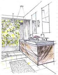 Interior Sketch by Interior Drawing One Point Perspective Interior Sketching Hand