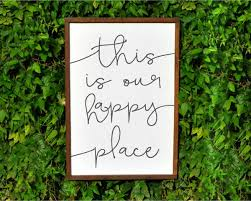 this is our happy place wood sign rustic decor cottage