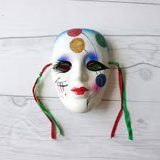 porcelain mardi gras masks shop vintage mardi gras masks on wanelo