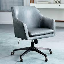 Small Leather Desk Chair Narrow Leather Desk Chair Green Leather Office Chair Throughout