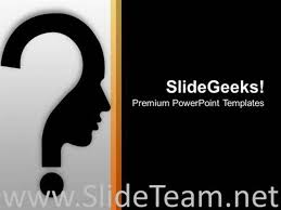 human face with question mark design powerpoint template
