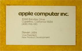 apple business card steve apple vp business card circa 1979 obama pacman