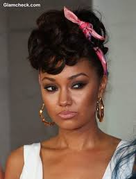 50s hairstyle with scarf leigh anne pinnock