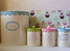 cupcake canisters for kitchen cupcake canister set cupcake kitchen pinterest canister sets