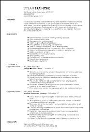 How To Make A Resume For Restaurant Job by Free Professional Corporate Trainer Resume Template Resumenow