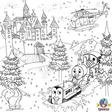 printable christmas colouring pages kids thomas winter