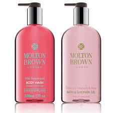 molton brown entice u0026 tempt bath u0026 shower gel duo qvc uk