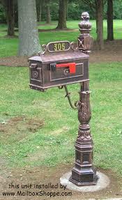 Pedestal Mailbox Traditional Mailbox 1 Cast Aluminum Pedestal Mailboxes