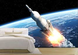 wall26 com art prints framed art canvas prints greeting wall26 space launch system takes off 3d scene removable wall mural self adhesive large wallpaper 66x96 inches
