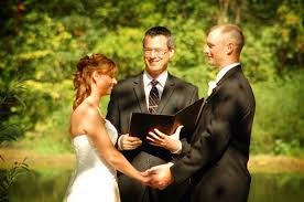 wedding officiator choosing a wedding officiant