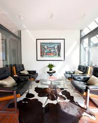 cowhide rug living room ideas spectacular cowhide rug decorating ideas for living room midcentury