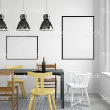 Dining Room Wall Interior Hipster Dining Room Empty Wall Stock Photo 648058134 Istock
