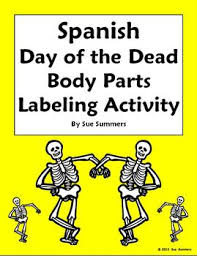 spanish day of the dead halloween body parts label the s
