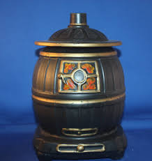 mccoy black pot belly stove cookie jar kitchen collectibles