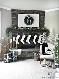christmas mantel neutral christmas mantel whiteaker