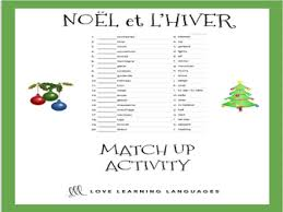 noël et le vocabulaire d u0027hiver bundle french christmas and