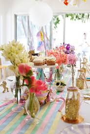 table centerpieces for party kara s party ideas magical magic is four real unicorn birthday