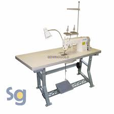 Commercial Fabric Cutting Table Juki Ddl 8700 Industrial Sewing Machine With Servo Motor Stand