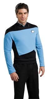 amazon com star trek the next generation deluxe shirt costume