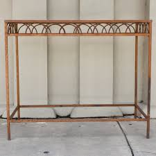 antique french iron u0026 glass bar height console table from a