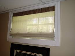 how to basement window curtains