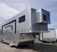 Cargo Trailer With Bathroom Toy Hauler Trailers Living Quarter Trailers Custom Toy Haulers