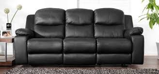 Leather Sofas Montreal Best Price Montreal Midnight Black Reclining 3 Seater Leather Sofa