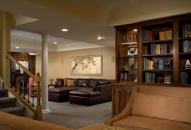 interior design elegant finished basement ideas for living space