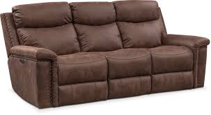Montana Sofa Bed Montana Dual Power Reclining Sofa Brown Value City Furniture