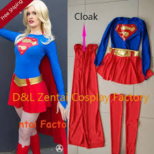 Marvel Female Halloween Costumes Dhl Wholesale Superhero Costume Classical Supergirl