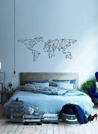 World Map Wall Sticker by Science Art Geometric World Map Vinyl Wall Decal Sticker