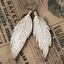 feather earrings s leather feather earrings distressed bohemian dreamer online