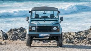 vintage range rover defender this matte blue land rover defender is ridiculously cool airows