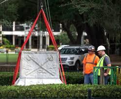 Giant Confederate Flag Orlando U0027s Confederate Statue Removed From Lake Eola Blogs