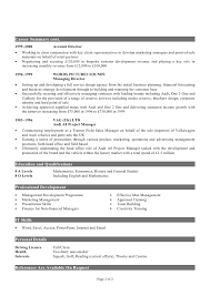 What Is Resume Summary Cv Example No 1