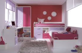 compact bedroom design for kids with study desk